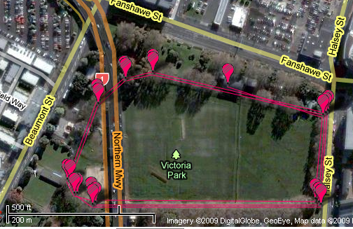 victoria park satellite view